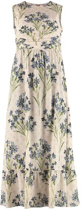 RED Valentino Silk Floral Dress
