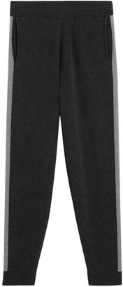 Theory Astine Side-Stripe Wool & Cashmere Joggers