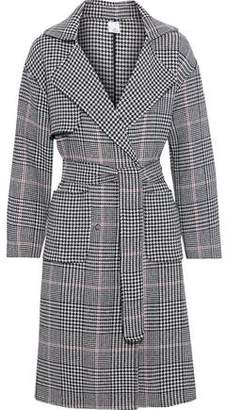 Iris & Ink Lynnae Double-breasted Prince Of Wales Checked Wool-blend Trench Coat