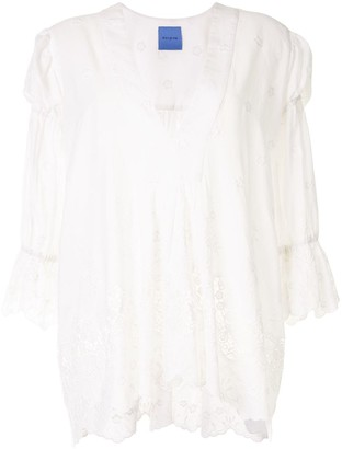 macgraw Elderflower embroidered tunic