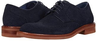 Trask Lanier (Navy English Suede) Men's Shoes