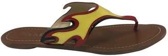 Prada Flame Multicolour Patent leather Sandals