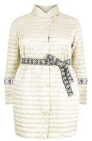 Marina Rinaldi Quilted Shawl Collar Coat