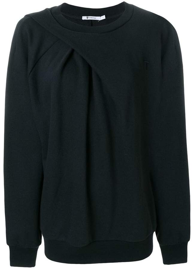 Alexander Wang draped oversized sweatshirt