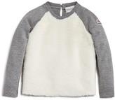 Moncler Girls' Faux Fur Front Sweatshirt - Sizes 8-14