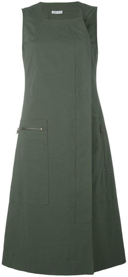 Tomas Maier dislocated fastening sleeveless dress