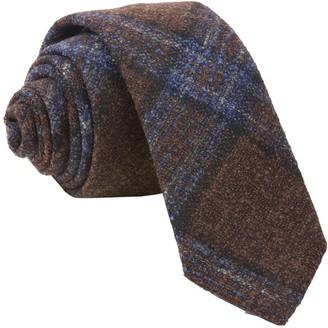 Tie Bar Barberis Wool Maschile Brown Tie