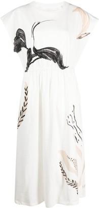 Alysi Swan Print Dress