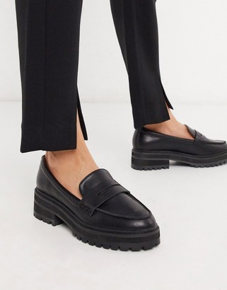 Raid chunky loafers in black