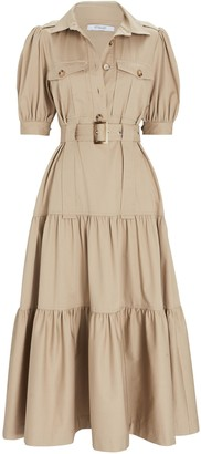 Derek Lam 10 Crosby Buffy Belted Poplin Midi Dress