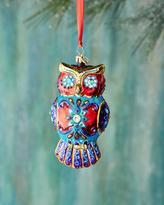 Christopher Radko Ornate Owl Christmas Ornament
