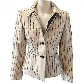 Carolina Herrera Ecru Cotton Jacket for Women