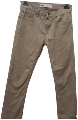 Levi's 710 Beige Cotton - elasthane Jeans