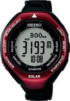 Seiko SBEB003 Men's ALPINIST World Time Altimeter Climbing Black Polyurethane Band Watch