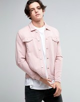 Asos Jersey Western Jacket In Pink