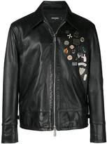 DSQUARED2 embellished leather jacket