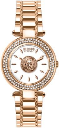 Versus Women's Swarovski Crystal Accent Brick Lane Crystal Watch, 36mm