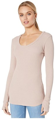 LAmade Wednesday Long Sleeve Top in Large Waffle Knit