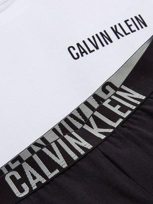 Calvin Klein Boys Shorty Pyjama Set - White/Black