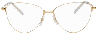 Balenciaga Gold Cat-Eye Glasses