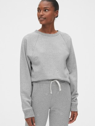 Gap Embroidered Floral Sweatshirt