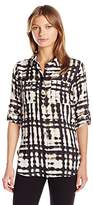 Calvin Klein Women's Printed Roll Sleeve Tunic