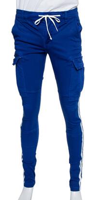 Amiri Navy Blue Cotton Side Stripe Detail Cargo Pants S
