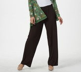 Logo By Lori Goldstein LOGO by Lori Goldstein Solid Pull-On Wide-Leg Pant
