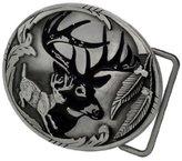 Buckle Rage Adult Men's Deer Hunter Buck Woods Hunting Belt Buckle