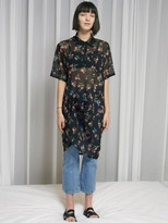 17 Summer Locle Shirts Snap Dress - Black Flower