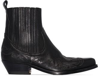 Golden Goose black Santiago 44 Western ankle boots