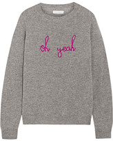 Chinti and Parker Oh Yeah Intarsia Cashmere Sweater - Gray