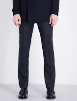 Corneliani Micro-check academy-fit stretch-wool trousers