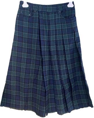 R 13 Blue Wool Trousers