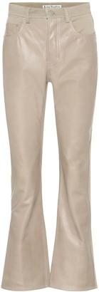 Acne Studios Leather and denim pants