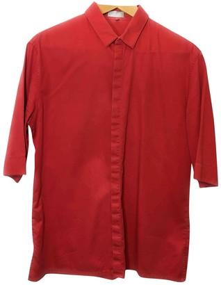 Christian Dior Red Cotton Shirts