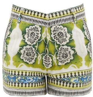 Le Sirenuse Positano Le Sirenuse, Positano - Positano Mosaic-print Cotton Shorts - Green Print