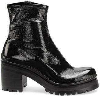 Miu Miu Lug-Sole Platform Ankle Boots