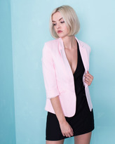 Missy Empire Rayna Baby Pink Open Front Blazer