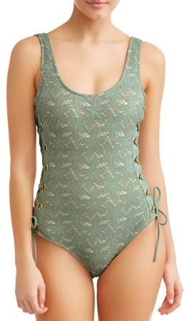 36d452c275ac5 No Boundaries Green Teen Girls' Swimsuits - ShopStyle