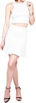 Donna Mizani Mini Flounce Skirt In White in White