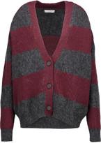 IRO Stuart oversized striped ribbed-knit cardigan