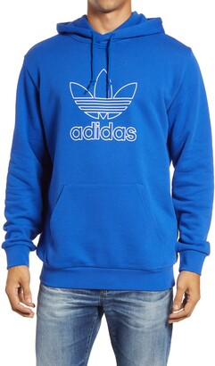 adidas Men's Trefoil Outline Hooded Sweatshirt