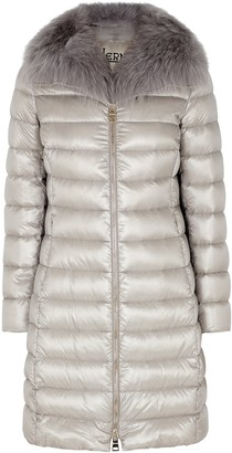 Herno Elisa Fur-trimmed Quilted Shell Coat