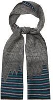 Missoni Chevron and striped wool scarf