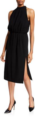 Aspesi Halter Tie-Neck Knee-Length Dress