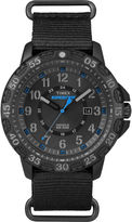 Timex Rugged Mens Black Fabric Strap Watch