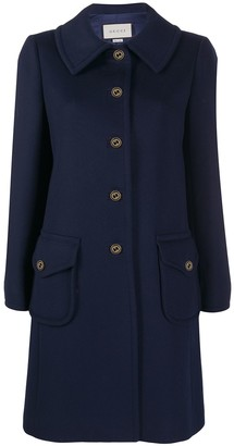 Gucci Branded Button Single Breasted Coat