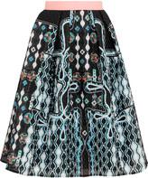 Peter Pilotto Circle printed cloqué skirt