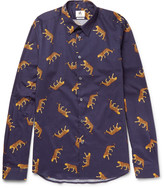 Ps By Paul Smith - Slim-fit Printed Cotton Shirt